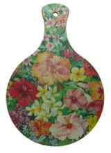 Mini chopping board with Caribbean Flowers design.