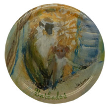 Melamine coaster with the Monkeys in a Gully design.