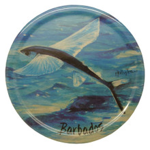 Melamine coaster with a Flyingfish design.