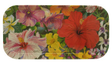 Small long tray with Caribbean Flower design.