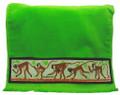 A Barbados green monkey guest towel.