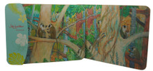 Set/2 placemats with Barbados Green monkeys