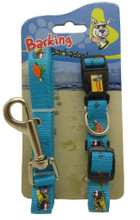 Barbados leash and dog collar set