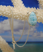 Larimar and silver necklace.