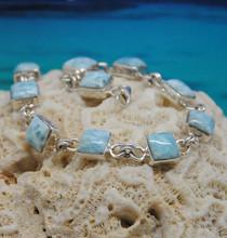 Larimar and silver bracelet.