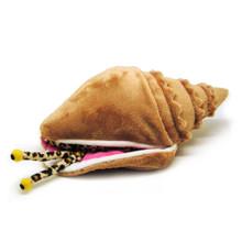 Calypso, the queen conch plush toy.