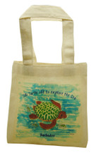 Mini tote with Till the turtle.