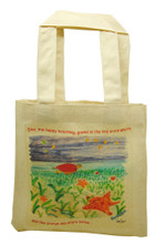 Mini tote with Star the happy hatchling.