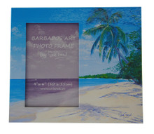 A Beach souvenir photo frame.