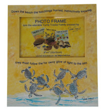 A Turtle Tracks photo frame, part of the Turtle Tracks Family of books and plush toys.