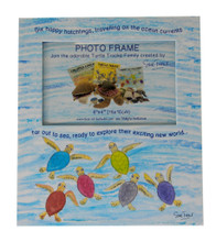 A Happy Hatchlings photo frame, part of the Turtle Tracks Family of books and plush toys.