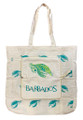 Expanded front view of folding shopping bag.