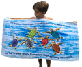 Our Happy Hatchlings towel for kids.