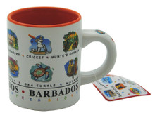 The front of the expresso mug.