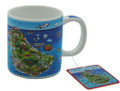 Expresso mug with Barbados map
