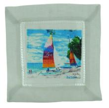 Cocktail napkin Colourful Catamarans.