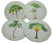 Set of 4 different placemats featuring paintings by Holly Trew.