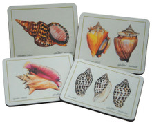 Set of 4 different coaters featuring paintings by Holly Trew.