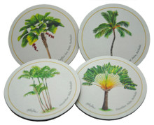 Set of 4 different coasters featuring paintings by Holly Trew.