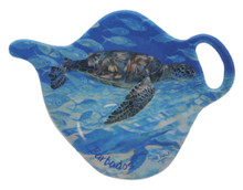 Teabag holder with turtle design.