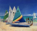 Going Sailing, an oil on canvas.