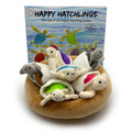 The Happy Hatchings book and toys to match.