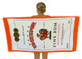 A Cockspur Rum beach towel.