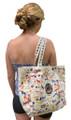 Canvas bag with dog design.
