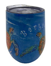 One side of the turtle tumbler.