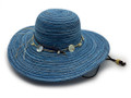 Sun hat with adjustable chin strap.