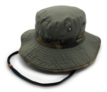 Boonie hat with printed design.