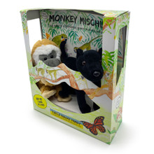 Monkey Mischief Gift Box with display window.