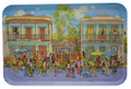 Jill Walker's Street Scene design on a tray.