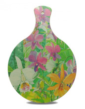 Mini Chopping Board with orchid design.