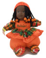Renee Doll Orange with Crochet Cap
