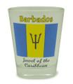 Barbados flag shot glass.