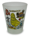 Barbados map shot glass.