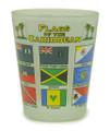 Caribbean flag shot glass.