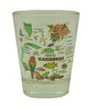 Shot Glass - Caribbean Map