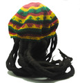 Rasta Hat with hair - adult size