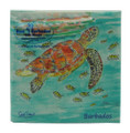 Beverage Paper Napkins - Turtle and Fish.