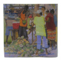 Lunch size paper napkin with a Coconut Vendors by Jill Walker.