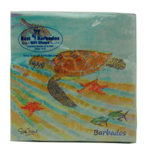 Beverage Paper Napkin - Turtles and Starfish