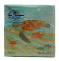 Beverage Paper Napkin - Turtles and Starfish