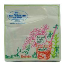 Tingly Frog beverage napkins.