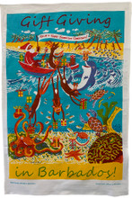 Colourful Barbados Gift Giving Tea-Towel