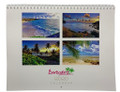 A 2020 calendar with beautiful photographs of Barbados on every month.