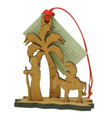 3D Christmas Decoration Mary and Joseph