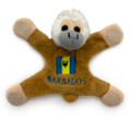 Monkey magnet with a Barbados flag.