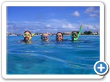 Enjoy snorkeling with friends